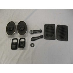 Front Speakers, Loudspeaker Grille, Window Crank