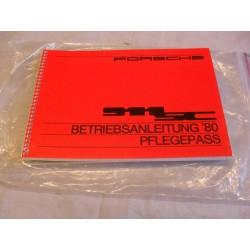 SC '80 Driver's Manual Maintenance Record (German)