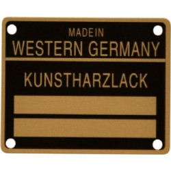Sticker, Kunstharzlack